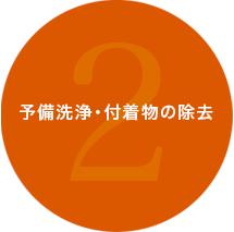 2.予備洗浄・付着物の除去